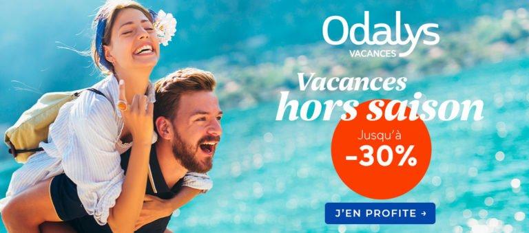 Remises sur vos vacances en septembre et octobre avec Odalys