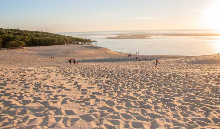 Vue sur l'océan Atlantique depuis le sommet de la dune du Pilat