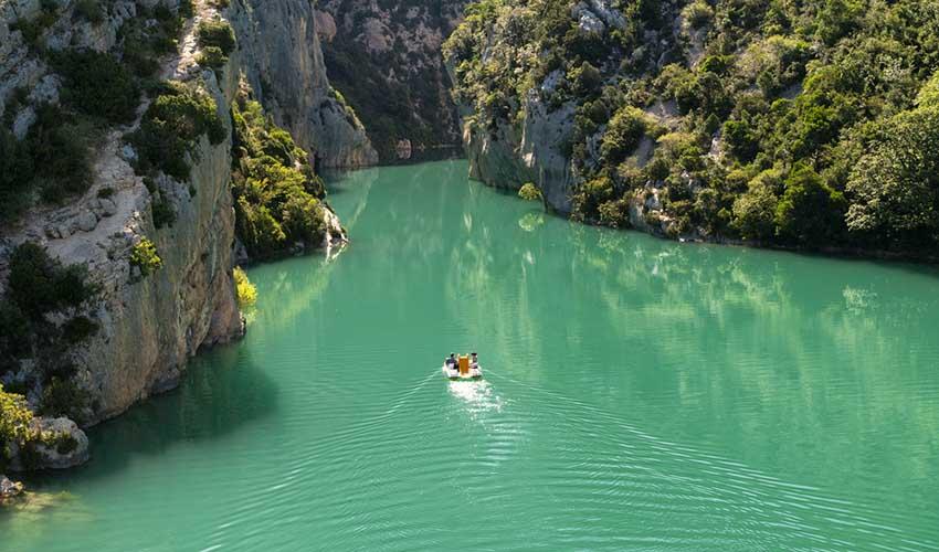 Canoë-kayak dans les gorges du Verdon