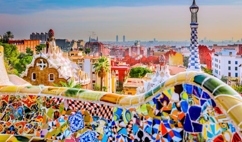 La parc Guell, une folie de Gaudi au coeur de Barcelone.