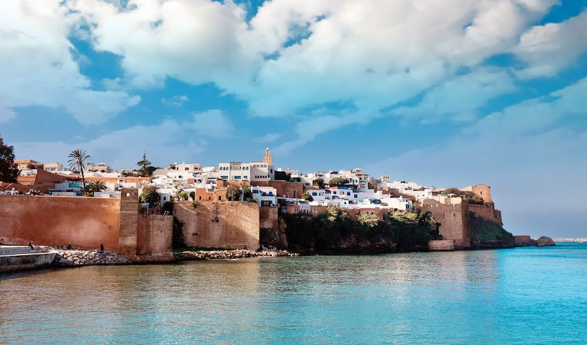 La Kasbah des Oudayas de Rabat vue de Salé.