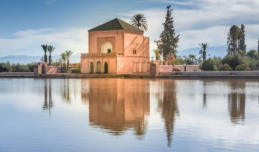 Les jardins de la Ménara, un lieu de visite incontournable de Marrakech.