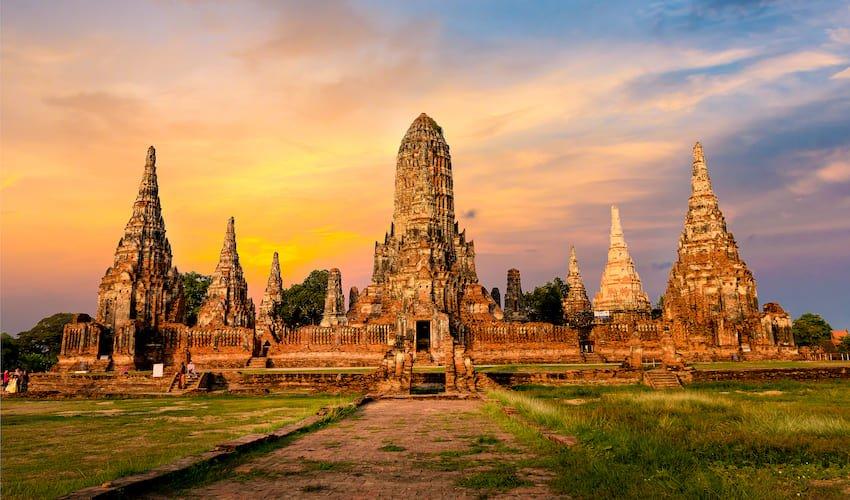 Temple bouddhiste d'Ayutthaya.