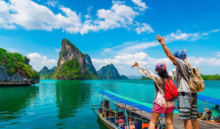 Excursion en bateau à Phuket, le must lors d'un séjour en club vacances en Thaïlande.