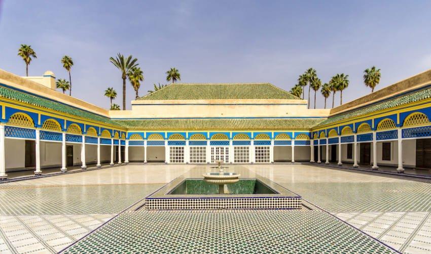 Patio du harem du Palais de la Bahia à Marrakech.