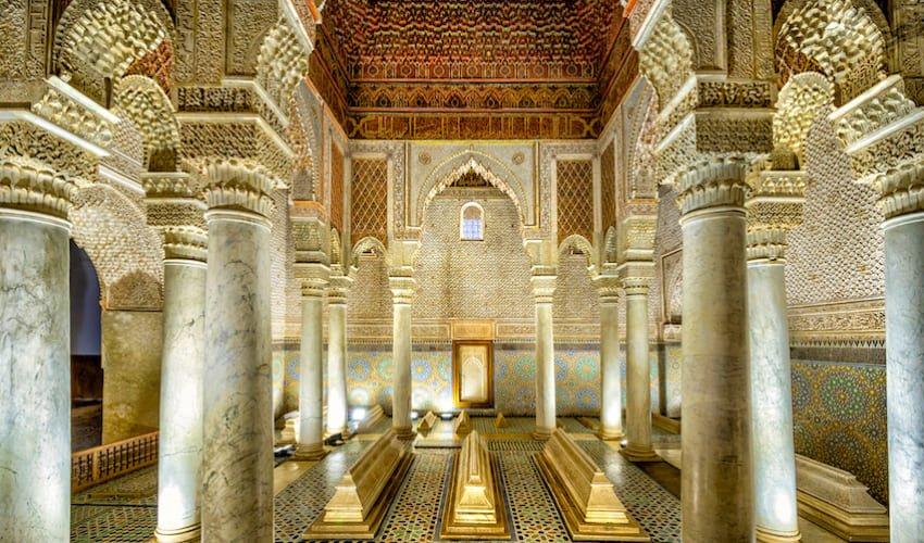 Les tombeaux Saâdiens, un trésor retrouvée d'une dynastie emblématique du Maroc.