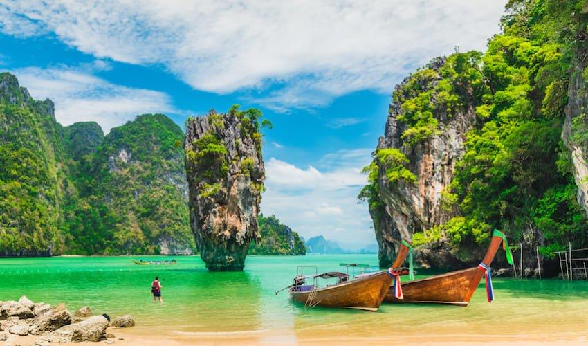 La Baie de Phang Nga et l'île de Koh Tapu