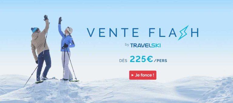 Vente flash ski : dès 250€/pers avec Skipass et matériel avec Travelski